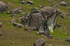 Interesting sedimentary rock in Giants Castle Stock Images