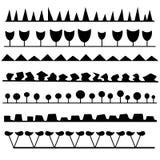Interesting set of brushes Stock Images
