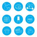 Interesting set icon Stock Photo