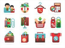 Interesting shopping icons Stock Photos