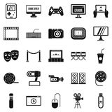 Interesting show icons set, simple style Royalty Free Stock Photo