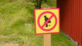 Interesting sign in Iceland Royalty Free Stock Photos