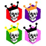 Interesting skull vector. Painted, bright and attractive. Stock Images