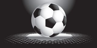 Interesting soccer ball Stock Image
