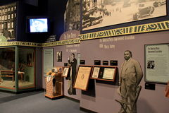 Interesting timeline that chronicles the birth of Harlem,State Museum,Albany,2016 Royalty Free Stock Images