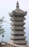 Interesting tower somewhere in Song Mountain range. China royalty free stock images