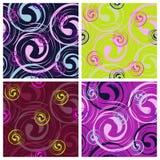Interesting twist. Seamless pattern of stylized geometric curl Stock Photography