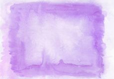 Interesting two layer lilac and violet watercolour horizontal gradient background with painted on the special watercolor. Paper.The middle is lighter than other stock photography