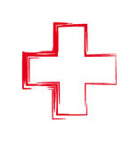 Red cross. Interesting unordinary stylized red cross Royalty Free Stock Photos
