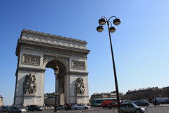 An interesting view of Arch of Triumph, Paris Stock Image