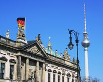 An interesting view of Berlin with TV tower Royalty Free Stock Images