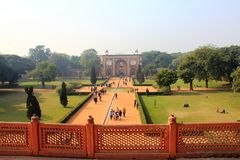 An interesting view of  Humayun Tomb campus Stock Photography