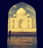 Interesting view of Taj Mahal, India. Royalty Free Stock Photography