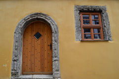 Interesting window and door in Germany Stock Photography