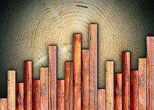 Interesting wood finishing. Interesting wood floor  finishing montage on old abstract surface Stock Photo