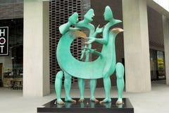 Interestingly bronze sculpture on the street, Singapore Stock Photo