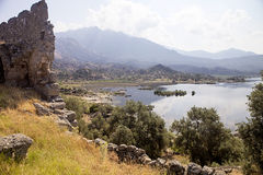 Interestingly inland lake Bafa, Turkey Royalty Free Stock Photo