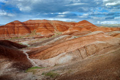 Interestingly red rock formations in central Turkey Royalty Free Stock Photos