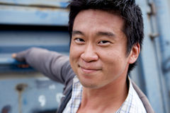 Interestng Asian Man. Portrait of an interesting asian man with an honest face Royalty Free Stock Photos