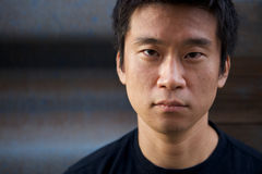 Interestng Asian Man. Portrait of an interesting asian man with an honest face Stock Images