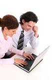 interesy ludzi laptopa do pracy Fotografia Stock