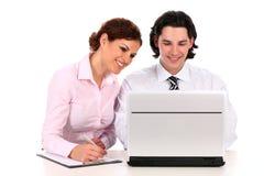 interesy ludzi laptopa do pracy Fotografia Royalty Free