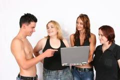 interesy ludzi laptopa wyznaczamy ludzi Zdjęcia Royalty Free