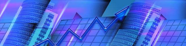 interesy sztandarów zwiększa wyniki finansowe Zdjęcia Royalty Free