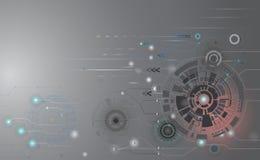 Interfac eletrônico futurista da placa de circuito da tecnologia abstrata ilustração do vetor