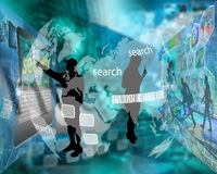 Interfaccia Fotografia Stock Libera da Diritti