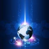 Interfaccia astratta di tecnologia di concetto Immagine Stock