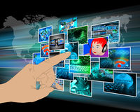 Interfaccia con alcune immagini Fotografia Stock Libera da Diritti