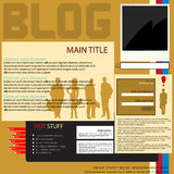 Interfaccia del blog Immagine Stock