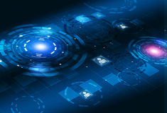 Interfaccia del cerchio di tecnologia 3D di concetto Fotografie Stock Libere da Diritti