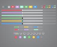 Interfaccia del lettore multimediale Fotografia Stock Libera da Diritti