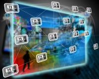 Interfaccia del PC Fotografia Stock Libera da Diritti