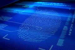 Interfaccia del sistema dell'identificazione Fotografia Stock Libera da Diritti