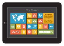 Interfaccia della compressa - icone messe Fotografie Stock Libere da Diritti