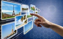 Interfaccia dello schermo di tocco Immagini Stock Libere da Diritti