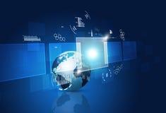Interfaccia di comunicazione di tecnologia di concetto Fotografia Stock