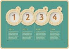 Interfaccia di Infographic Immagine Stock
