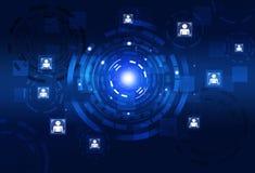 Interfaccia di tecnologia del cerchio di concetto Immagine Stock