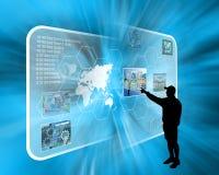 Interfaccia e siluetta Fotografia Stock
