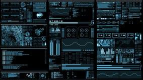 Interfaccia futuristica blu-chiaro/Digital screen/HUD illustrazione vettoriale