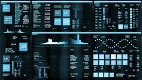Interfaccia futuristica blu-chiaro/Digital screen/HUD royalty illustrazione gratis
