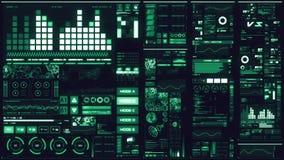 Interfaccia futuristica blu fredda/Digital screen/HUD archivi video