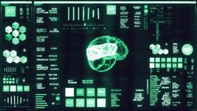 Interfaccia futuristica blu fredda/Digital screen/HUD illustrazione di stock