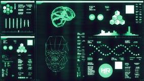 Interfaccia futuristica blu fredda/Digital screen/HUD illustrazione vettoriale