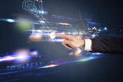Interfaccia futuristica del touch screen Immagini Stock Libere da Diritti