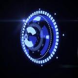 Interfaccia futuristica di HUD Target UX UI Fotografie Stock